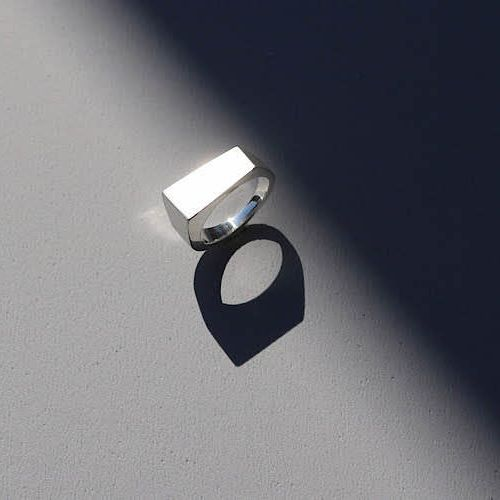 Block Ring Silver